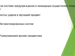 Российская система предупреждения и ликвидации осуществляет оповещение с помо