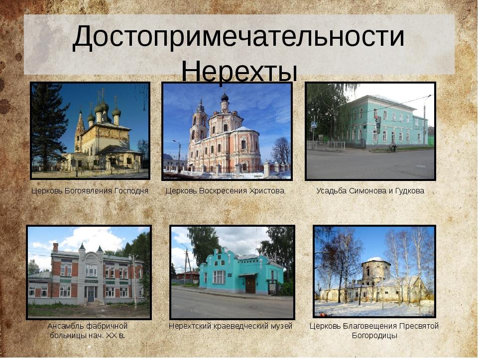 Церковь Воскресения Христова Усадьба Симонова и Гудкова Нерехтский краеведчес...