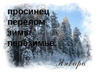 просинец перелом зимы перезимье
