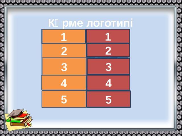 Көрме логотипі (тест ) а а б б а 1 3 2 4 5 б б ә ә ә 1 3 2 4 5