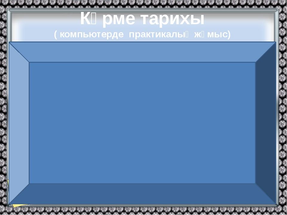 Көрме тарихы ( компьютерде практикалық жұмыс) Халықаралық Көрме Бюросы Құрылу...