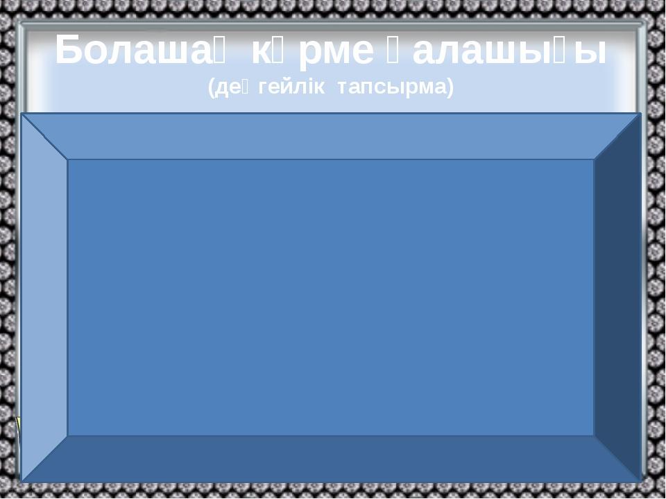 Болашақ көрме қалашығы (деңгейлік тапсырма) Астанада 100 гектар аумаққа 97 па...