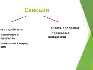 Санкции меры воздействия, применяемые к нарушителям установленных норм, прави