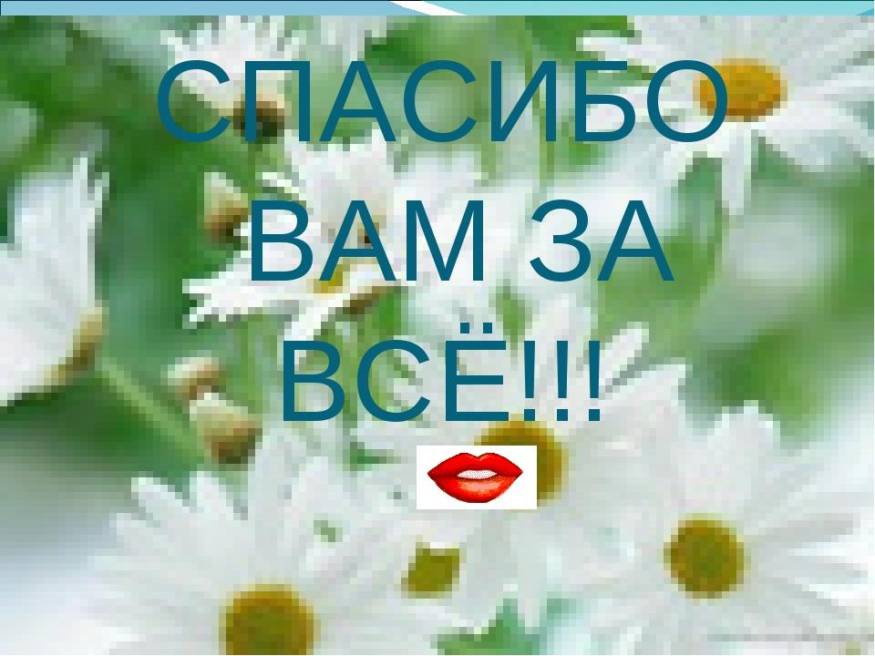 СПАСИБО ВАМ ЗА ВСЁ!!!