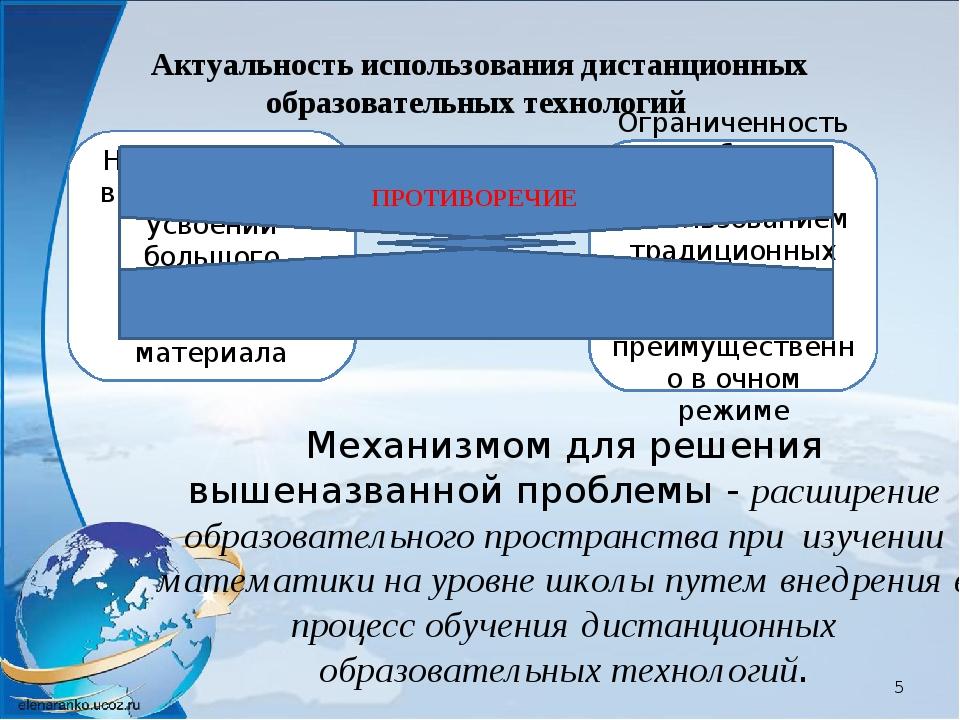 Механизмом для решения вышеназванной проблемы - расширение образовательного п...
