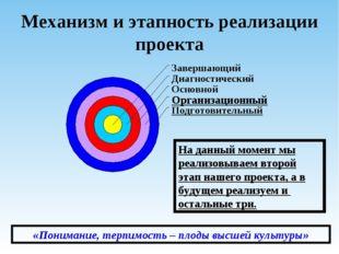 Механизм и этапность реализации проекта На данный момент мы реализовываем вто