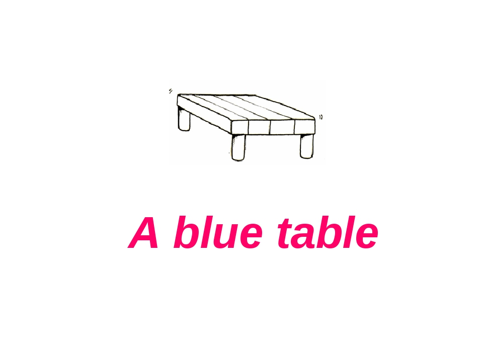 A blue table