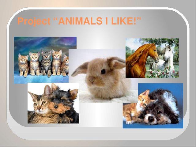 "Project ""ANIMALS I LIKE!"""