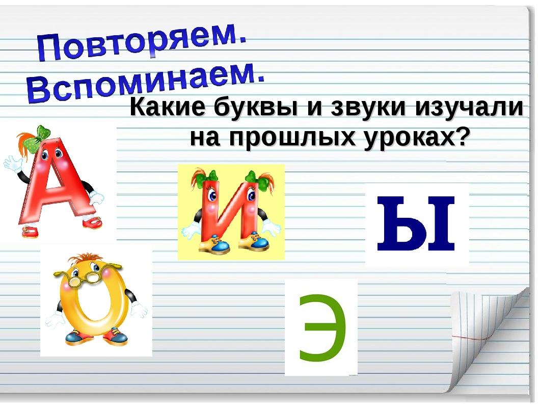 Какие буквы и звуки изучали на прошлых уроках?