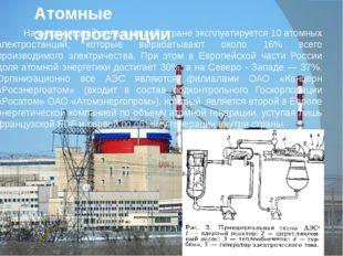 Атомные электростанции На сегодняшний день в нашей стране эксплуатируется 10