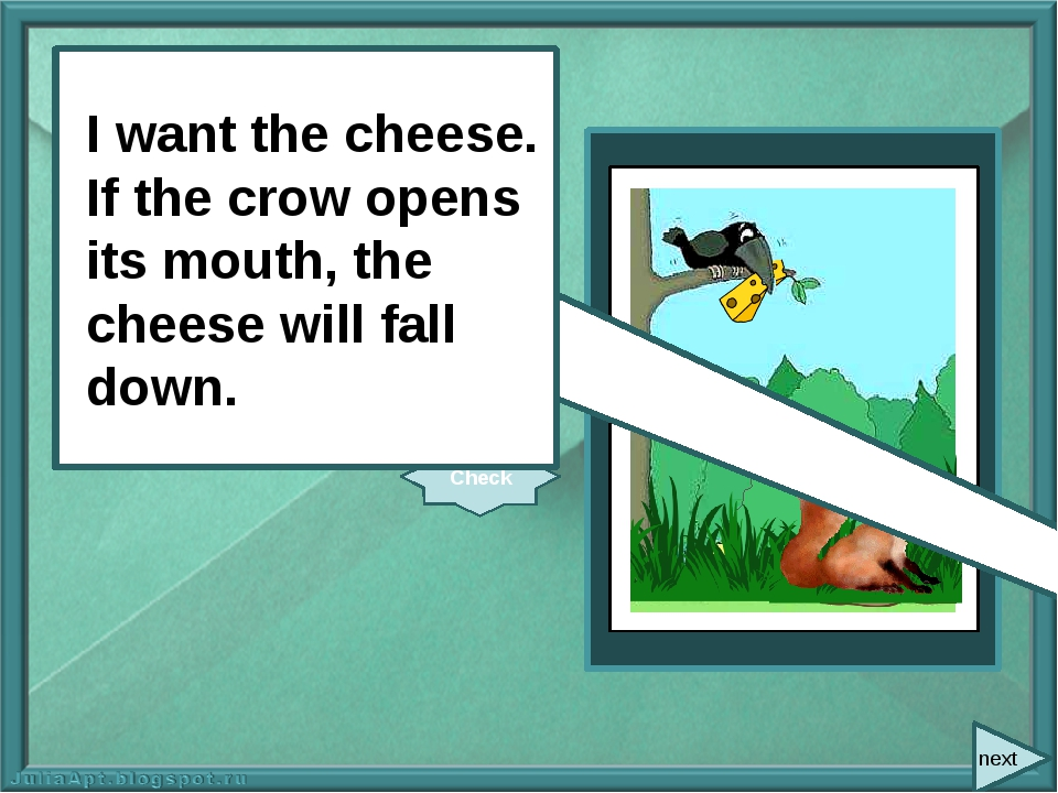 next gallery.yopriceville.com I want the cheese. If the crow (open) its mout...