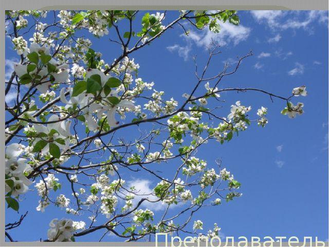 Презентация Поэтический марафон в КМСК «Весны прелестное дыханье…» Преподава...