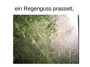 ein Regenguss prasselt,