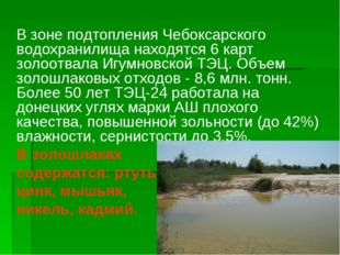В зоне подтопления Чебоксарского водохранилища находятся 6 карт золоотвала И