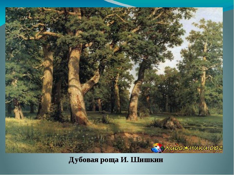 Дубовая роща И. Шишкин