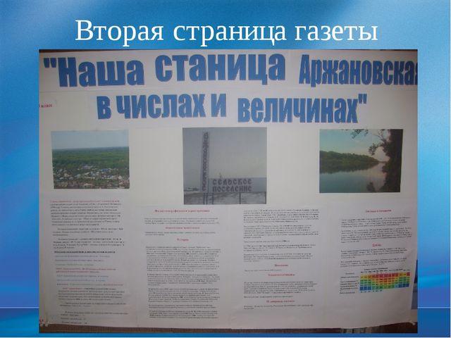 Вторая страница газеты Слайд 24. Демонстрация продуктов проекта.