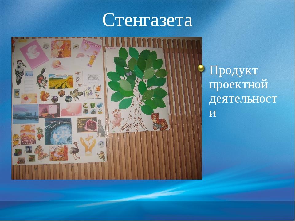 Стенгазета Продукт проектной деятельности Слайд 18. На данном слайде результа...