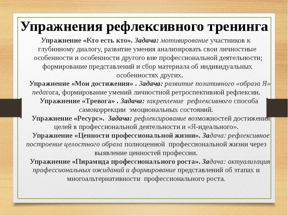 Упражнение «Кто есть кто». Задача: мотивирование участников к глубинному диа...
