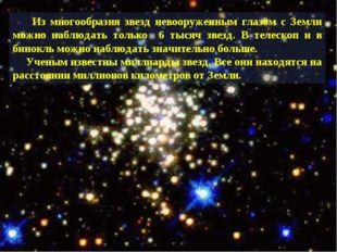 Из многообразия звезд невооруженным глазом с Земли можно наблюдать только 6