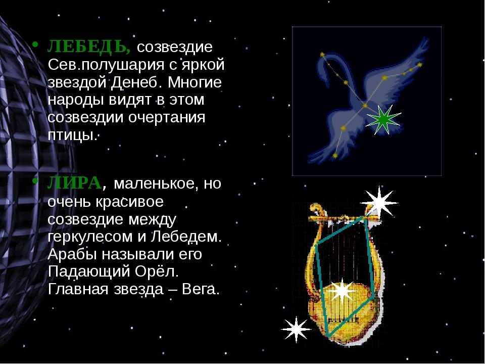 ЛЕБЕДЬ, созвездие Сев.полушария с яркой звездой Денеб. Многие народы видят в...