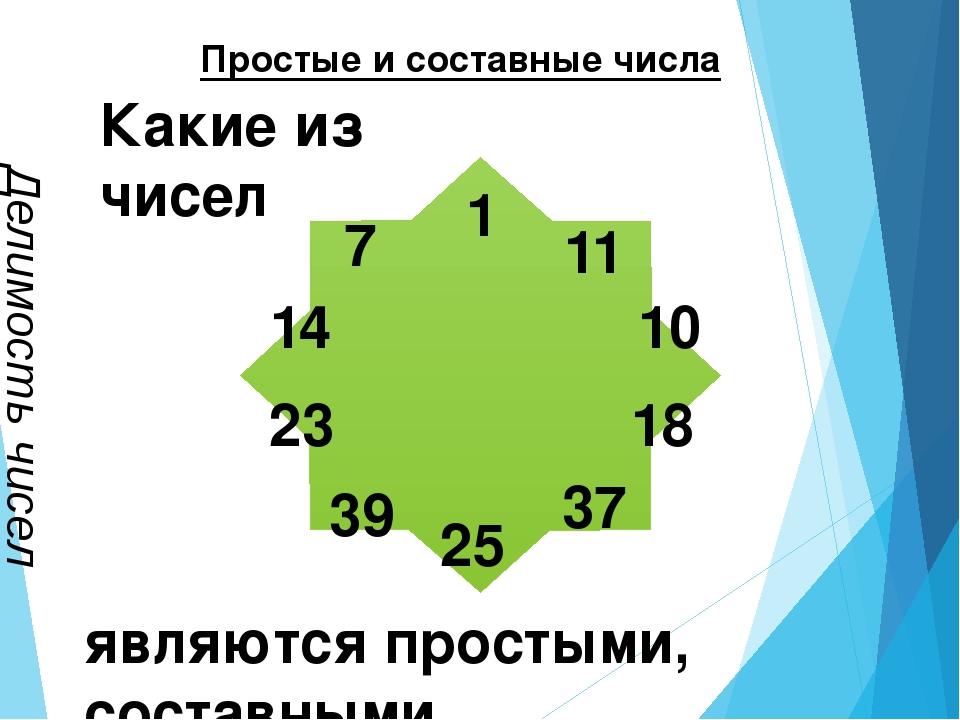 Простые и составные числа Делимость чисел являются простыми, составными. Как...
