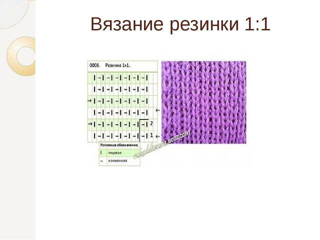 Вязание резинки 1:1