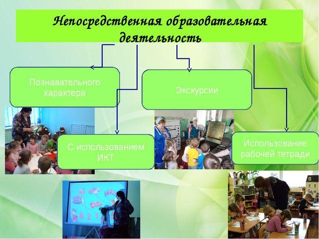 Непосредственная образовательная деятельность Познавательного характера С исп...