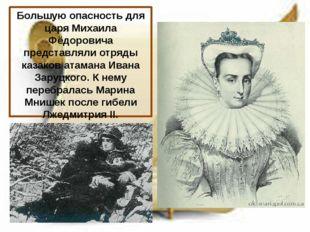 Большую опасность для царя Михаила Фёдоровича представляли отряды казаков ата