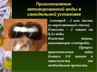Приготовление активированной воды в самодельной установке Электрод - 2 шт. (в