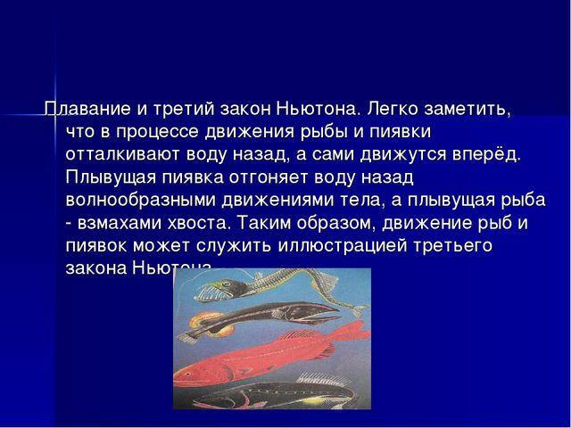 Плавание и третий закон Ньютона. Легко заметить, что в процессе движения рыбы...