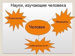 Науки, изучающие человека Человек Психология Медицина Нейрофизиология