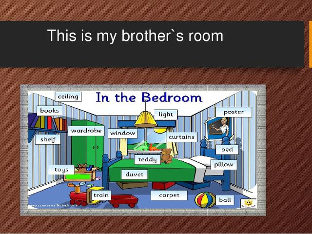 This is my brother`s room