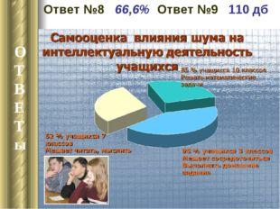 9.04-13.04 2011-2012 уч. г Неделя математики О Т В Е Т ы Ответ №8 66,6% Ответ
