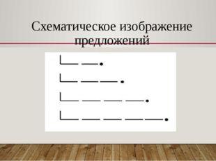 Схематическое изображение предложений