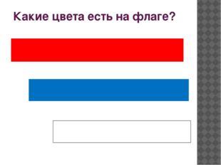 Какие цвета есть на флаге?