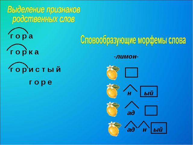 г о р е -лимон- ый н г о р а г о р к а г о р и с т ы й ад ад н ый