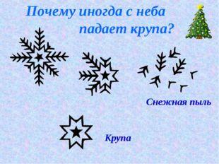 Почему иногда с неба падает крупа? Снежная пыль Крупа