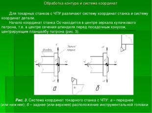 Обработка контура и система координат Для токарных станков с ЧПУ различают си