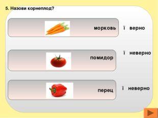 петрушка картофель огурец 6. Овощ, листья которого едят: ● верно ● неверно ●