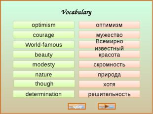 optimism courage World-famous beauty modesty though nature determination опти
