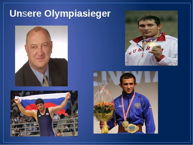 Unsere Olympiasieger