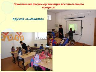 Практические формы организации воспитательного процесса: Кружок «Смекалка»