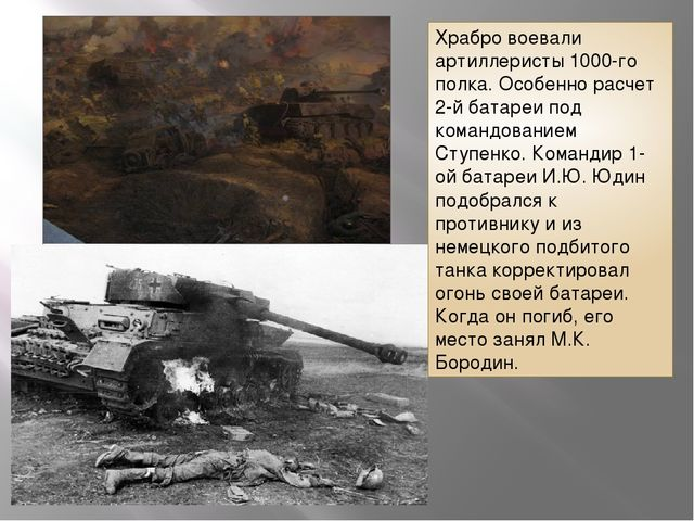 Храбро воевали артиллеристы 1000-го полка. Особенно расчет 2-й батареи под ко...