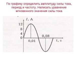 По графику определить амплитуду силы тока, период и частоту. Написать уравнен