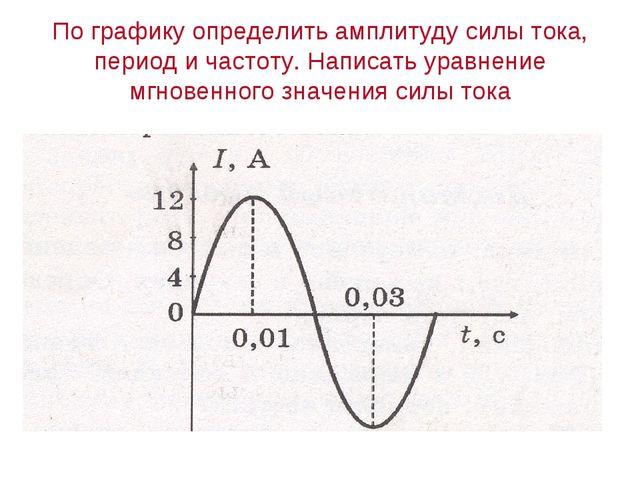 По графику определить амплитуду силы тока, период и частоту. Написать уравнен...