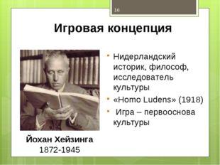Игровая концепция Нидерландский историк, философ, исследователь культуры «Hom