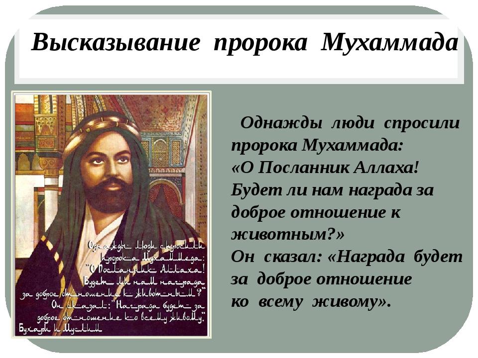 Однажды люди спросили пророка Мухаммада: «О Посланник Аллаха! Будет ли нам н...
