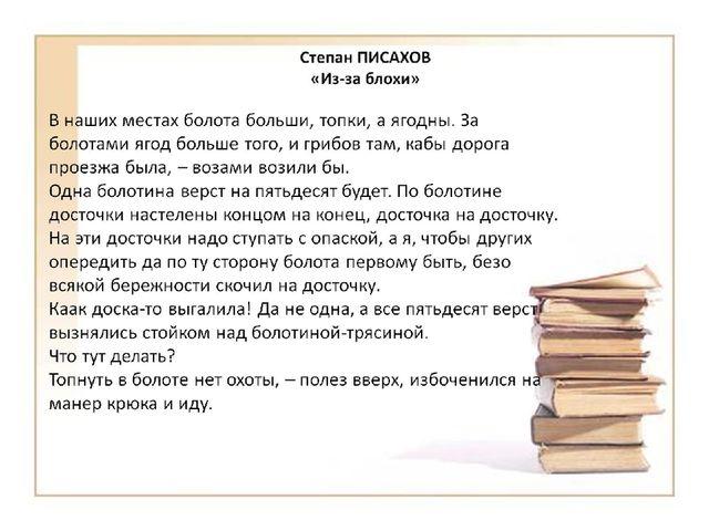 Степан ПИСАХОВ «Из-за блохи»
