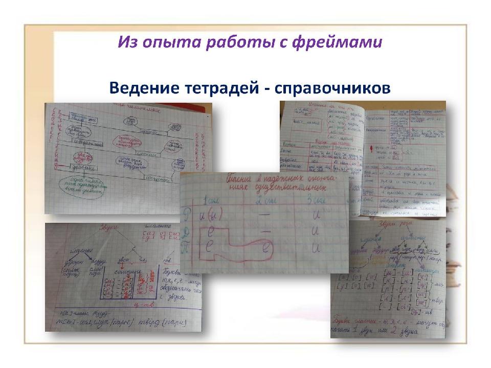 Из опыта работы с фреймами Ведение тетрадей - справочников
