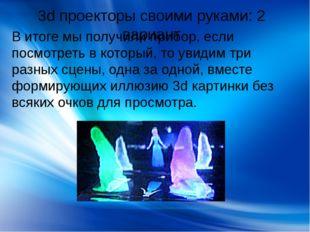 3d проекторы своими руками: 2 вариант В итоге мы получили прибор, если посмот